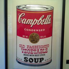 """""""Lata de sopa Campbell"""" de Warhol"""