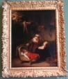 Sagrada familia con ángeles de Rembrandt