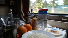 Completo desayuno a bordo