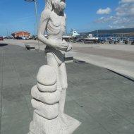 Escultura de Man, obra de Francisco Castro